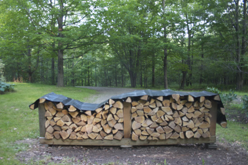 how to stack firewood for seasoning 1
